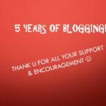 My Magic Pan 5th Blog Anniversary