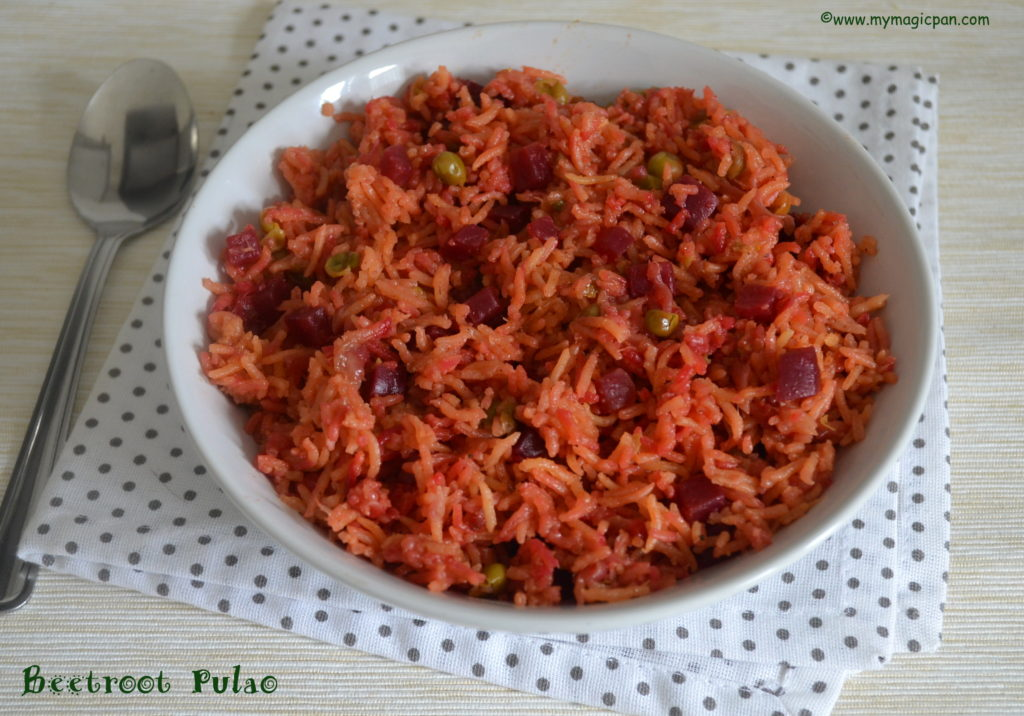 Beetroot Pulao My Magic Pan