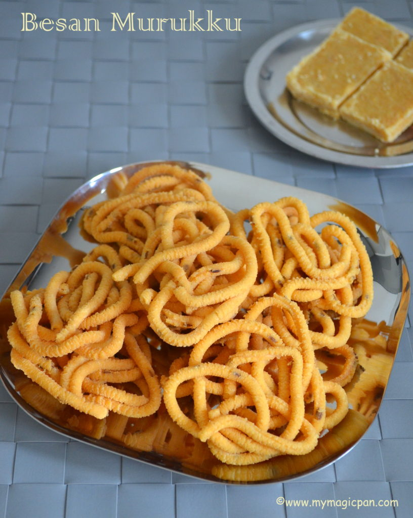 Besan Murukku My Magic Pan