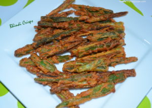 Bhindi Crisps My Magic Pan