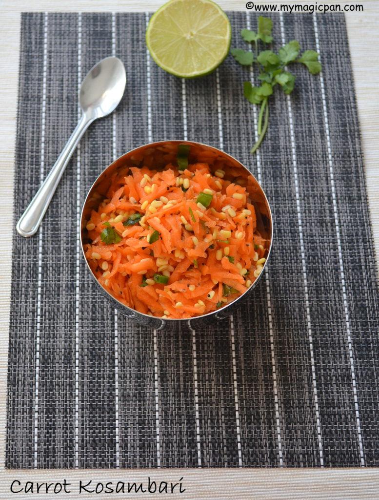 Carrot Kosambari My Magic Pan