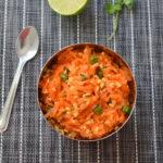 Carrot Kosambari - Carrot Moong Dal Salad