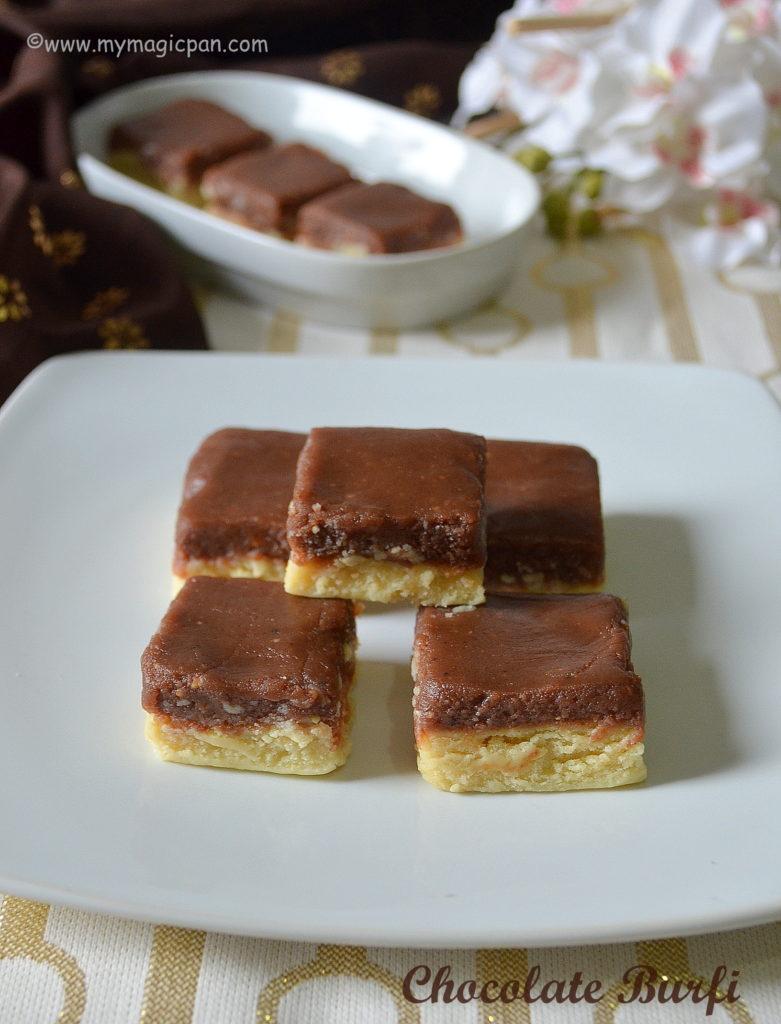 Chocolate Burfi My Magic Pan