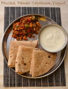 Phulka Sabji Lunch Menu