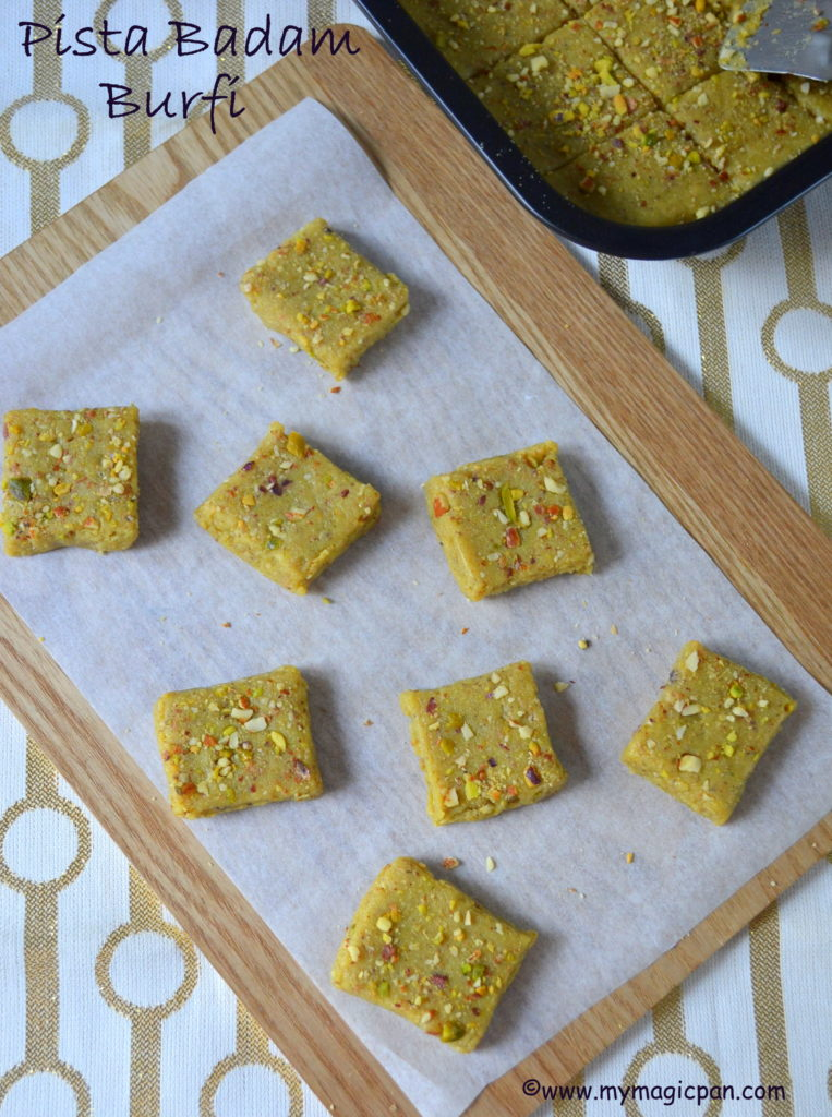 Pista Badam Burfi My Magic Pan