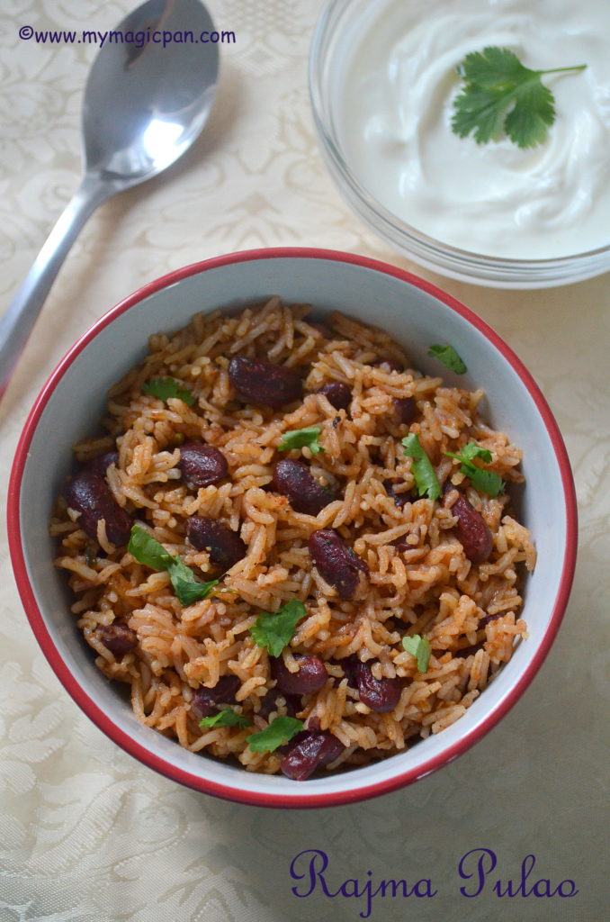 Rajma Pulao My Magic Pan