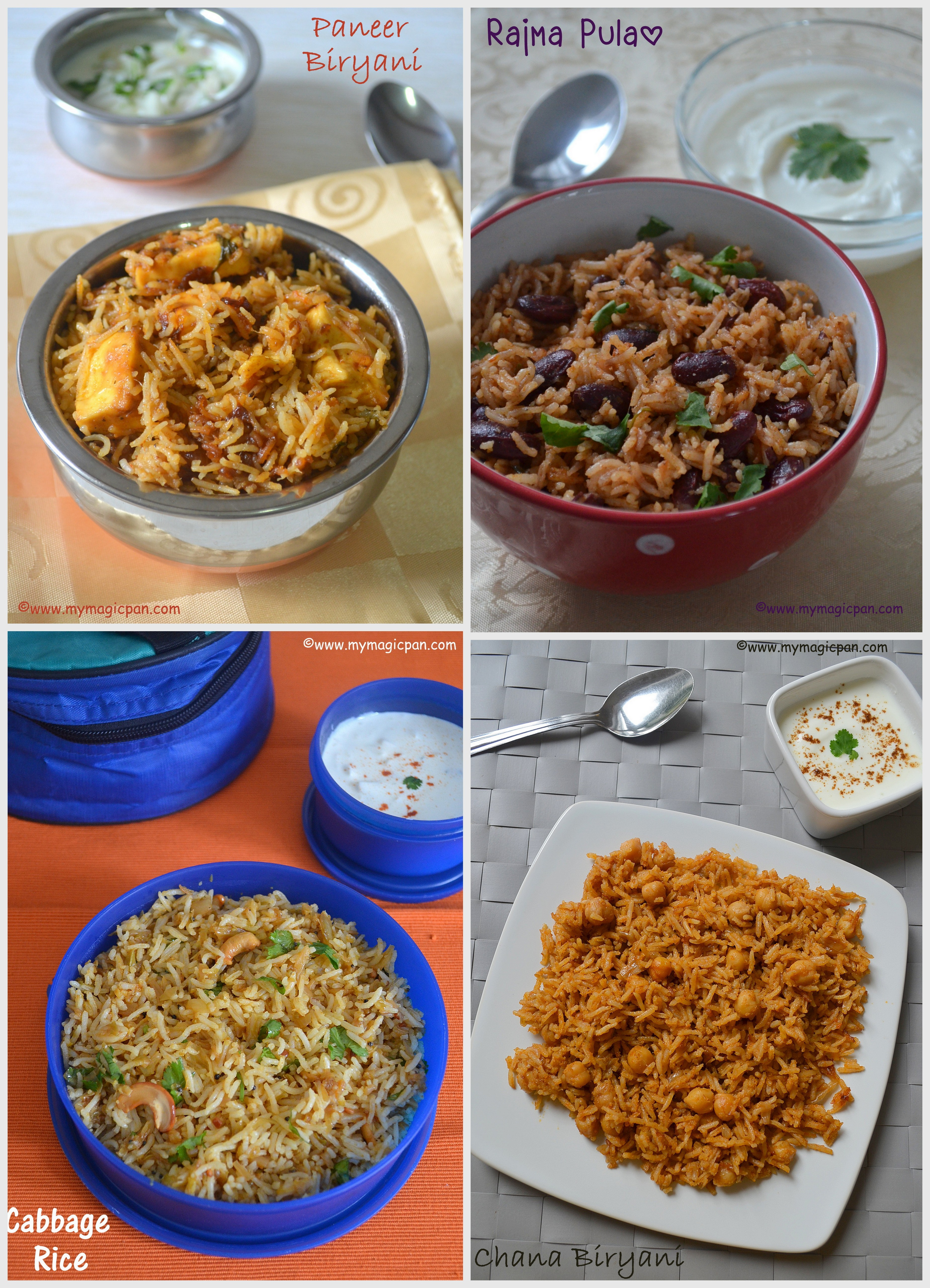 BIRYANI, PULAO, RICE VARIETIES