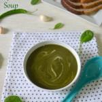 Potato Spinach Soup - Aloo Palak Soup