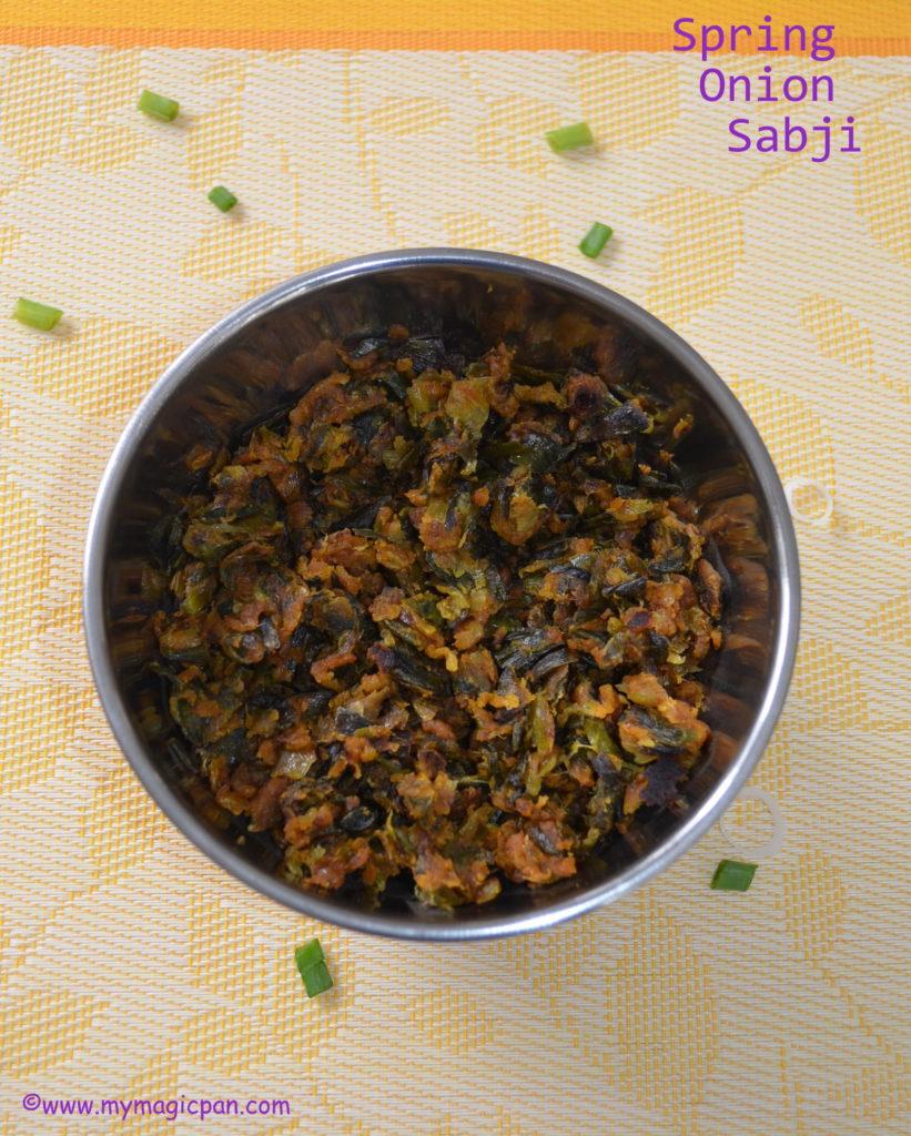 Hari Pyaaz Sabzi My Magic Pan