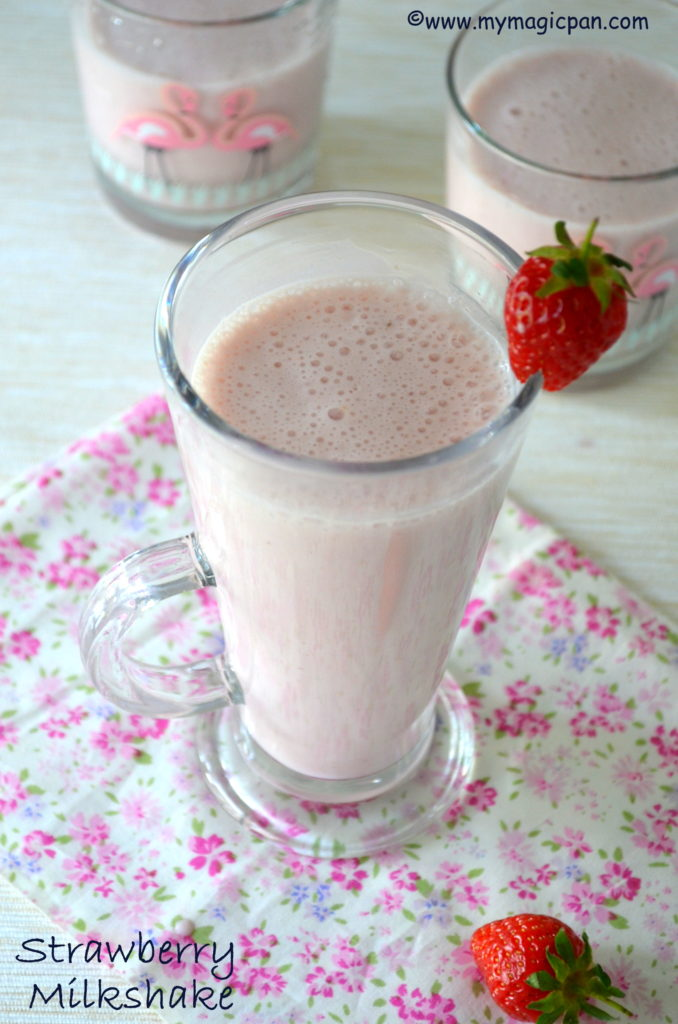 Strawberry Milkshake My Magic Pan