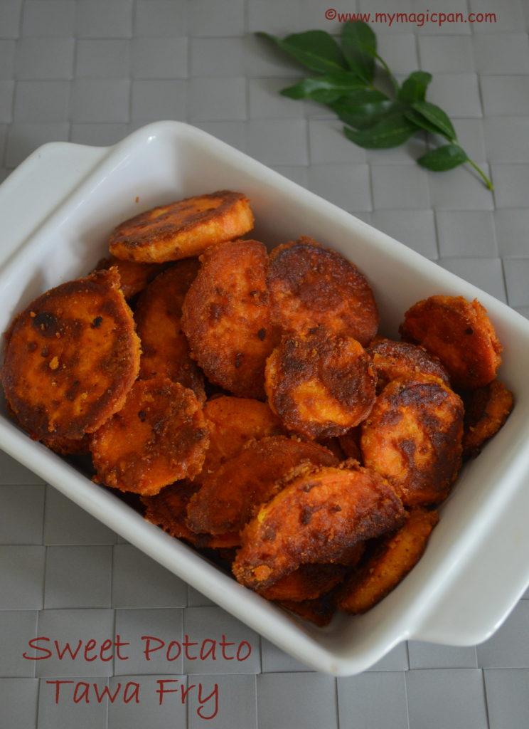 Sweet Potato Tawa Fry My Magic Pan
