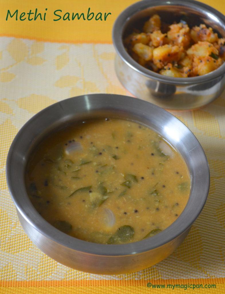 Vendhaya Keerai Sambar My Magic Pan