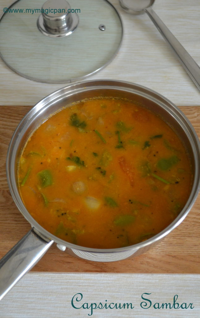 Capsicum Sambar My Magic Pan