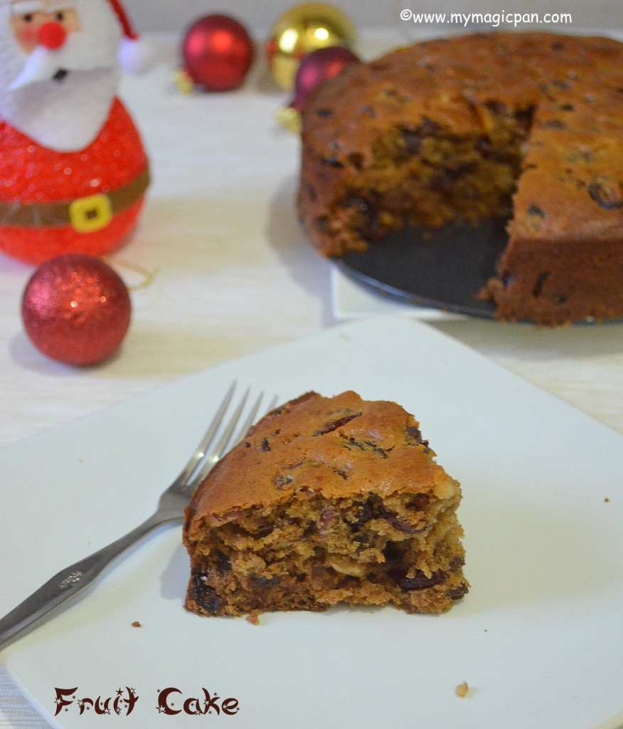 Eggless Christmas Cake My Magic Pan