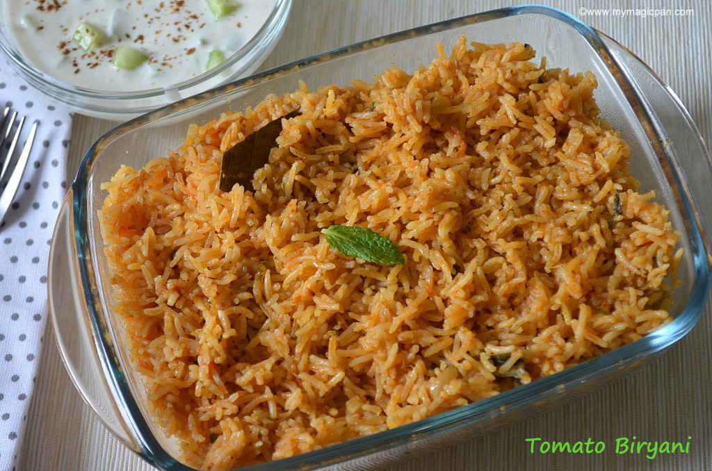 Tomato Biryani My Magic Pan