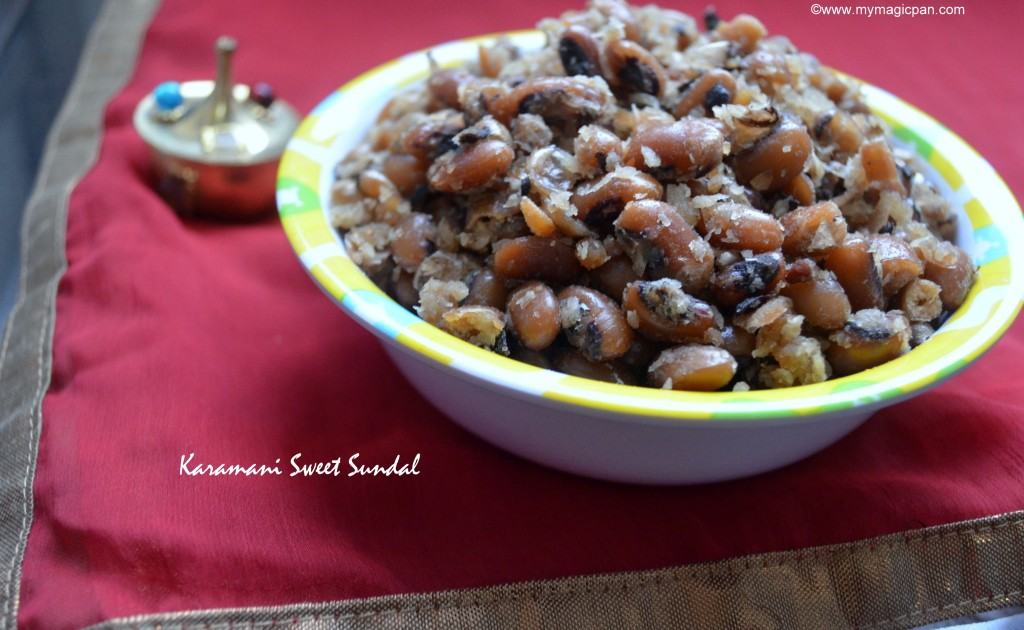 Karamani Sweet Sundal Recipe My Magic Pan
