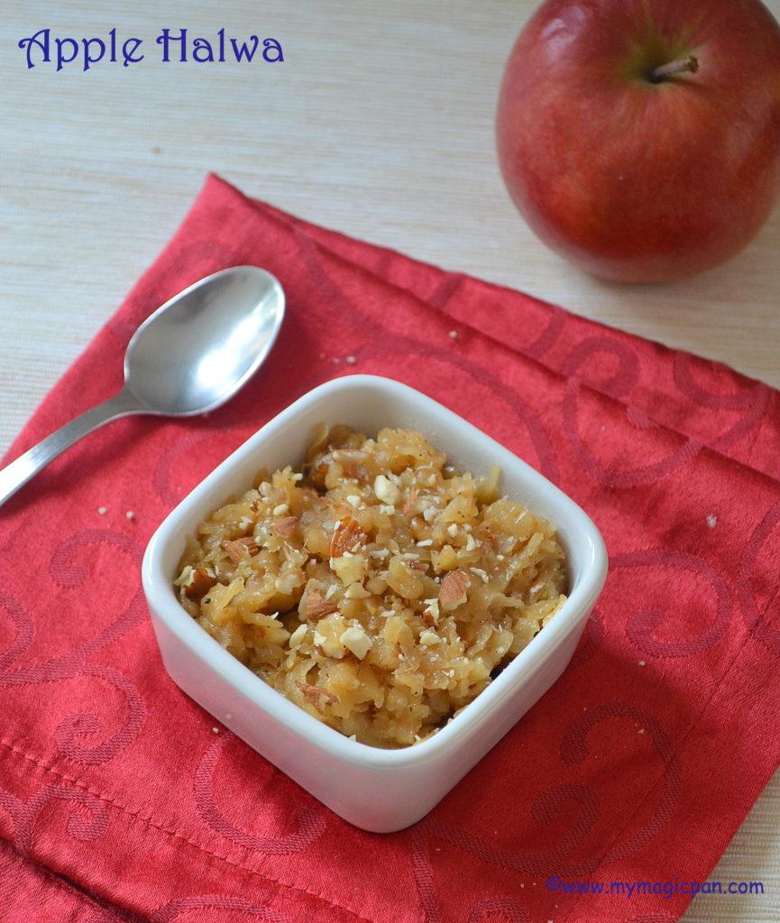 Apple Halwa My Magic Pan