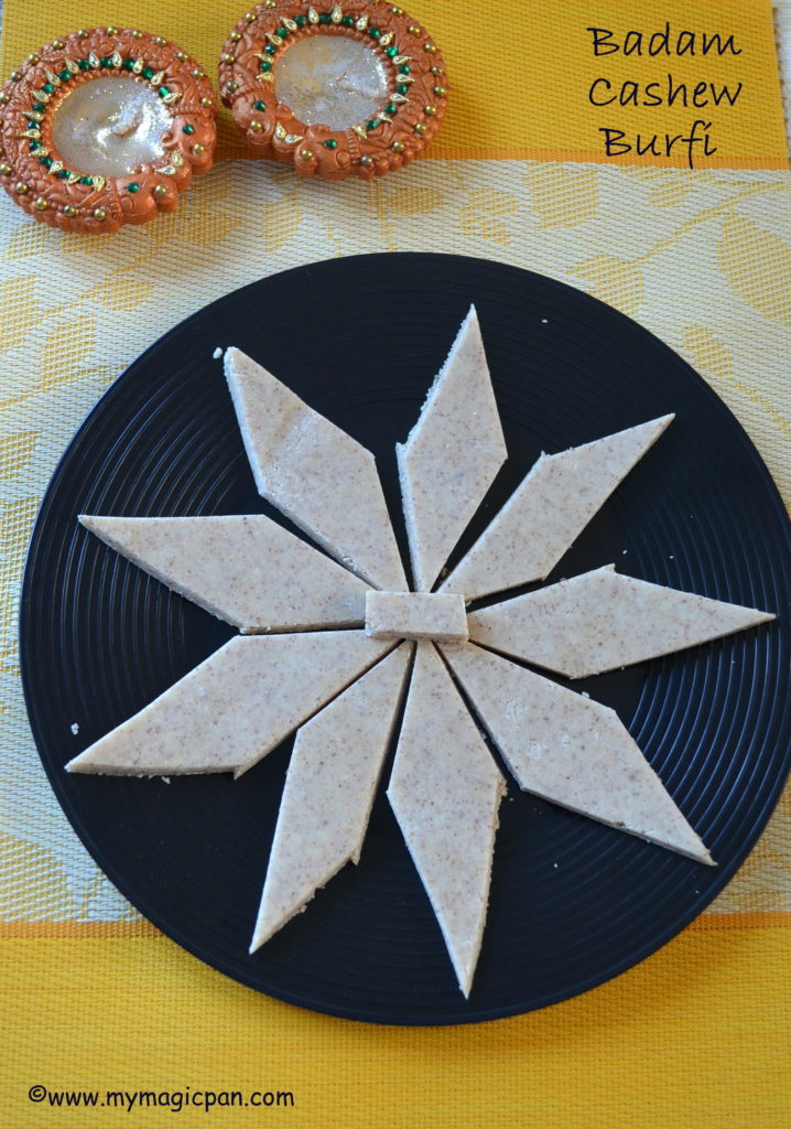 Kaju Badam Katli My Magic Pan
