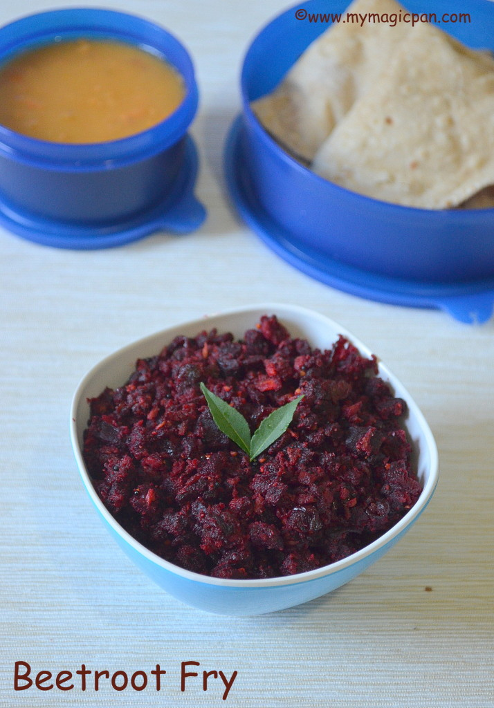 Beetroot Fry My Magic Pan
