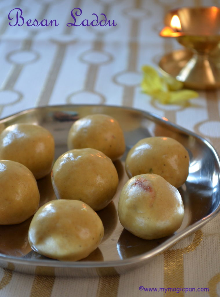 Besan Ladoo My Magic Pan