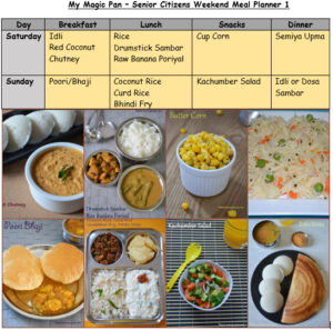 Senior Citizens Meal Planner