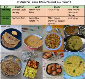 Senior Citizens Meal Planner (New) Karthigai Deepam Spl Inclusive