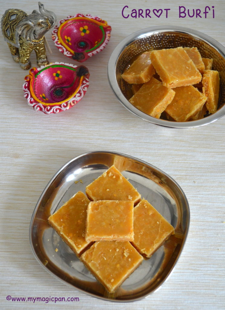 Carrot Burfi My Magic Pan