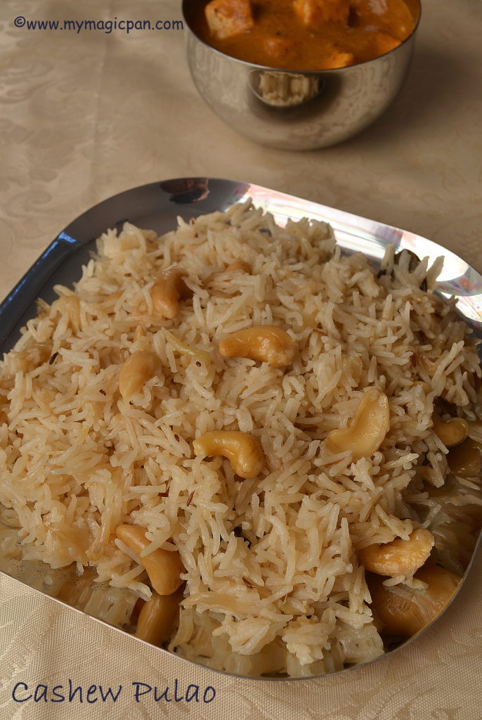Cashew Pulao My Magic Pan