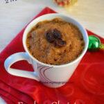 Christmas Mug Cake - 2 Mins Microwave Christmas Cake