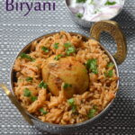 Egg Biryani - Muttai Biryani (Pressure Cooker Method)