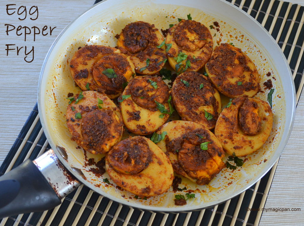 Egg Pepper Fry My Magic Pan