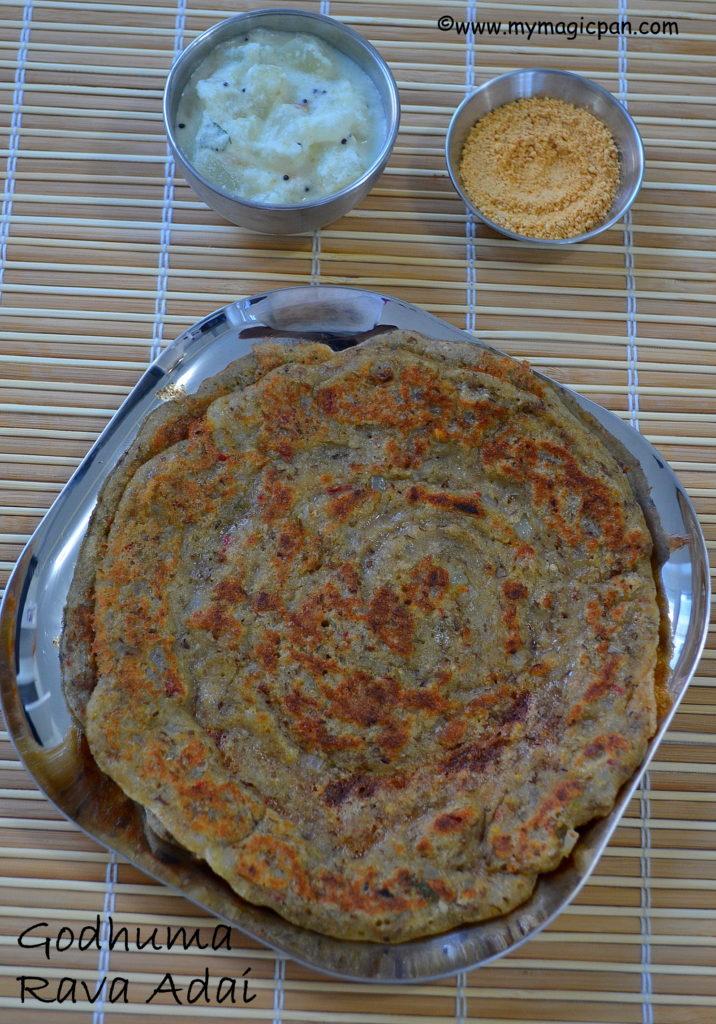 Godhuma Rava Adai My Magic Pan