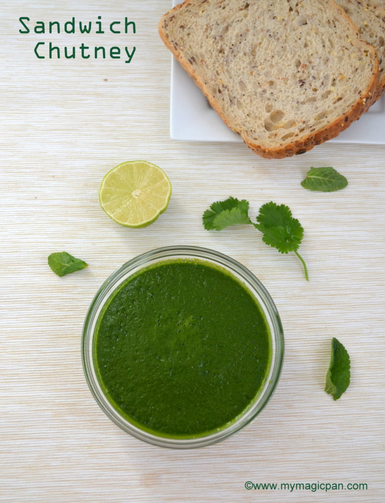 Green Sandwich Chutney My Magic Pan