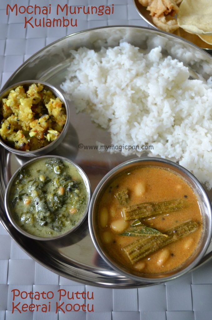South Indian Lunch Menu My Magic Pan