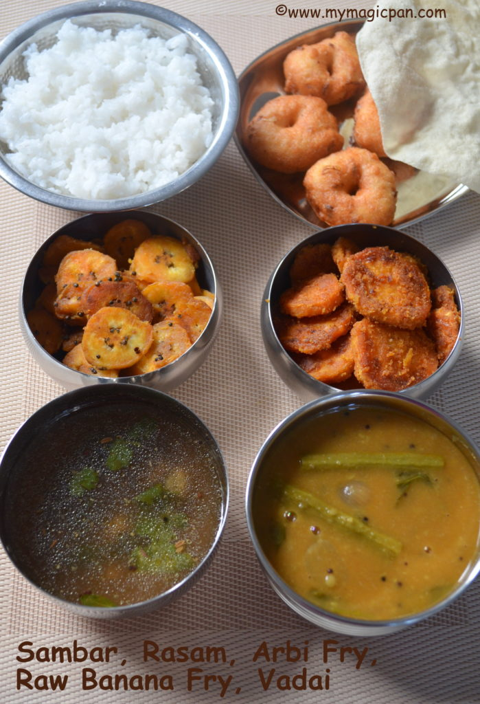 South Indian Lunch Menu My Magic Pan