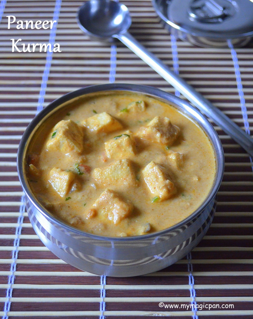Paneer Kurma My Magic Pan