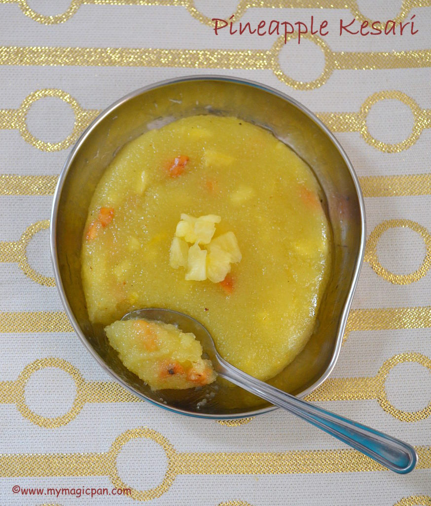 Pineapple Kesari My Magic Pan