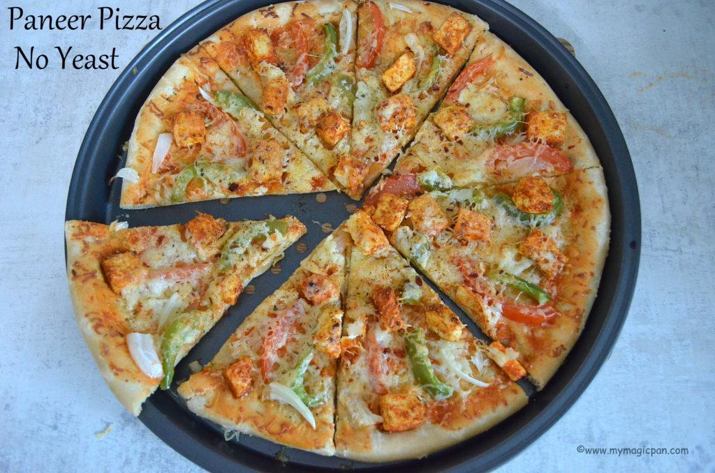 No Yeast Paneer Pizza My Magic Pan