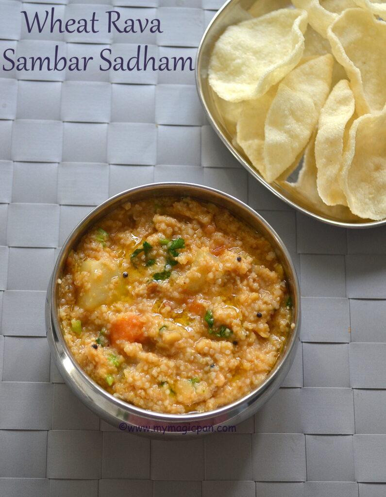 Samba Rava Sambar Sadham My Magic Pan