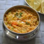 Godhuma Rava Sambar Sadham - Broken Wheat Sambar Sadam