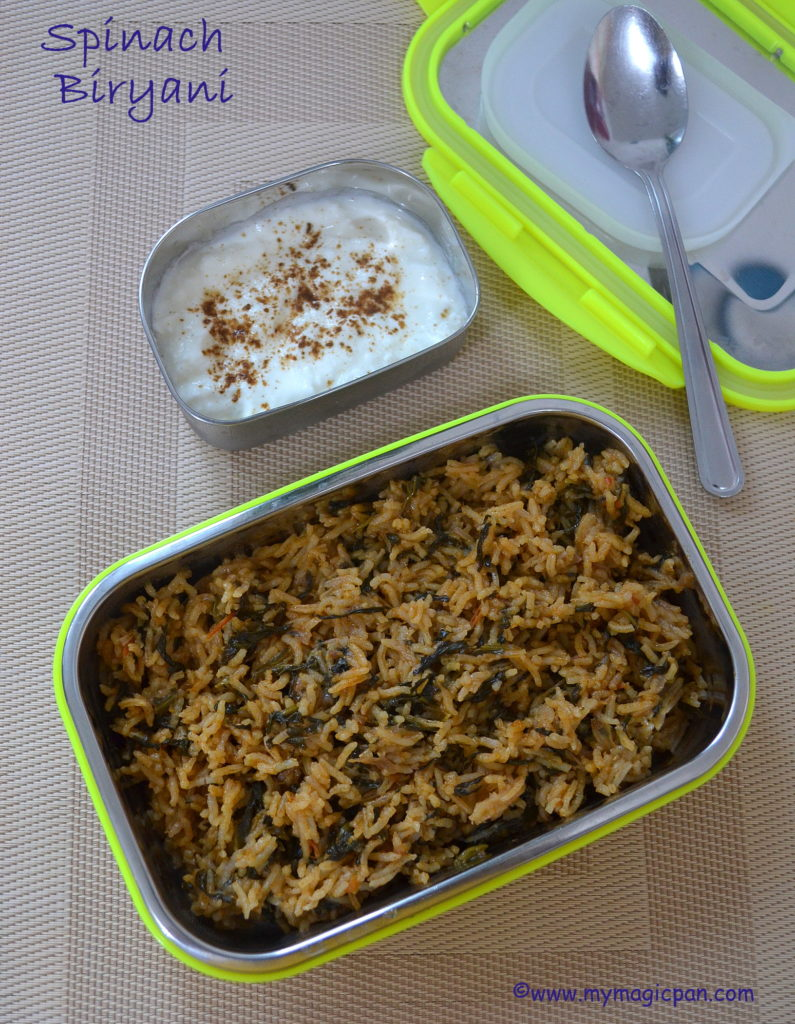 Spinach Biryani My Magic Pan