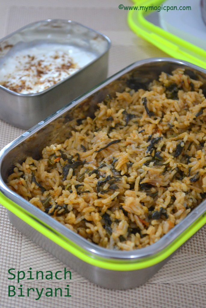Palak Biryani My Magic Pan