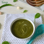 Potato Spinach Soup - Aloo Palak Soup