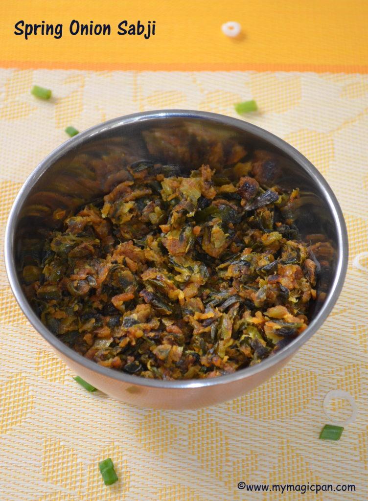 Spring Onion Sabji My Magic Pan