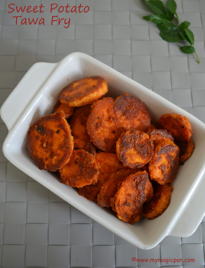 Sweet Potato Tawa Fry My Magic Pan