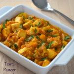 Tawa Paneer Masala - Paneer Recipes