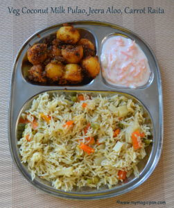 Pulao Lunch Menu
