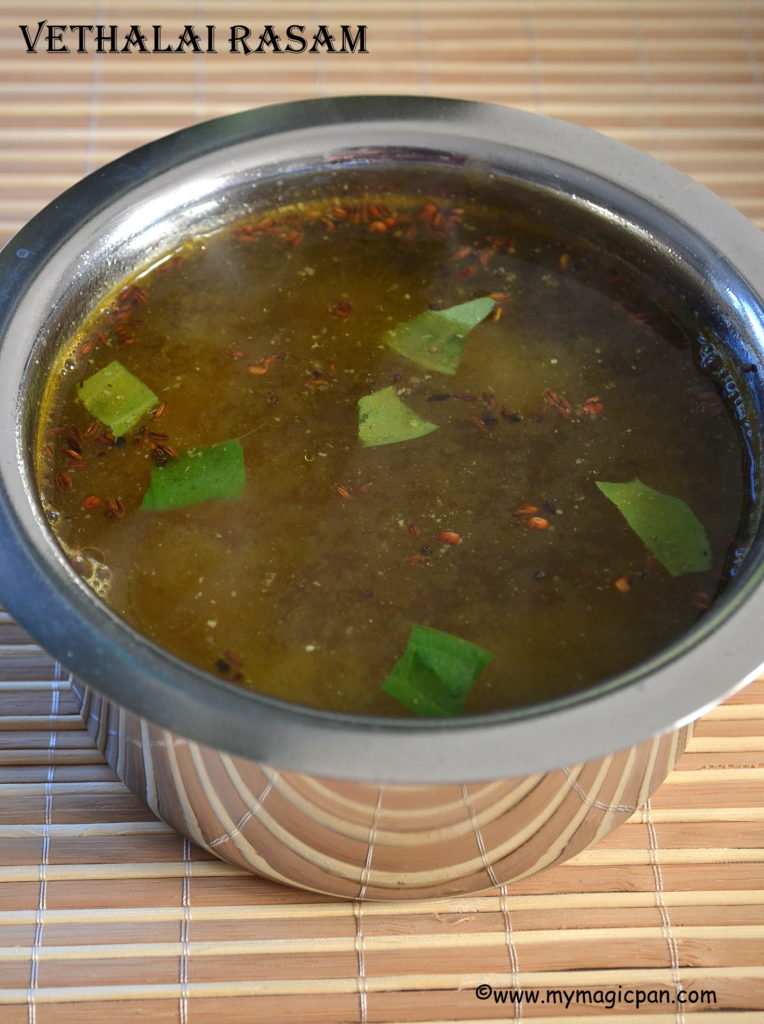 Vethalai Rasam My Magic Pan