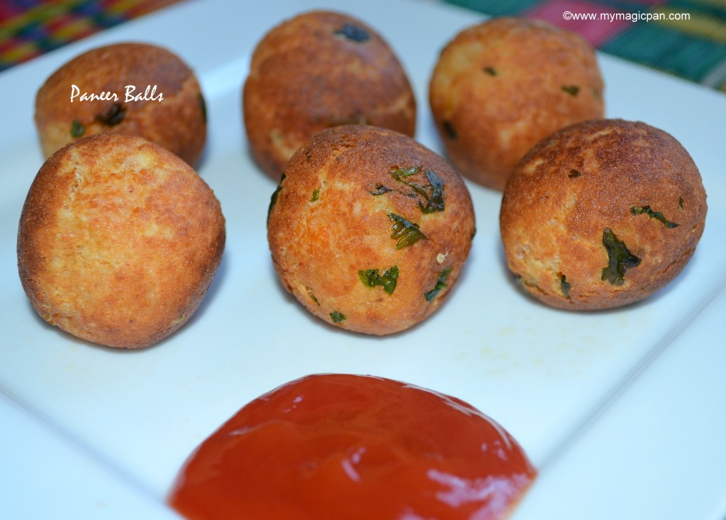 Paneer Balls My Magic Pan
