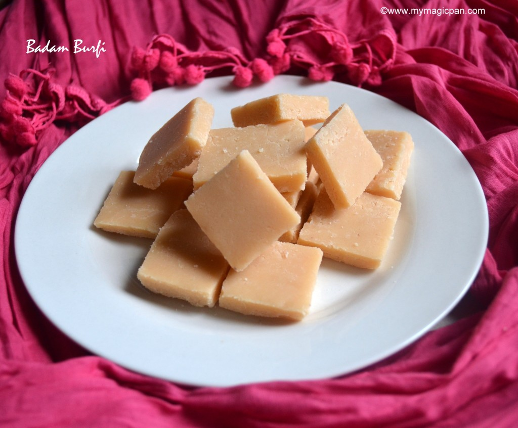 Badam Burfi My Magic Pan